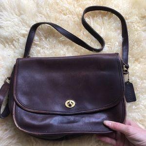 Vintage Coach Crossbody Bag 9790 Chestnut Brown